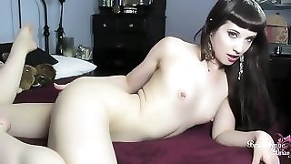 Cute Teen Fucks Her Asshole with Her Fingers And A Dildo