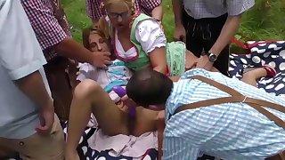 german outdoor gangbang fuck orgy