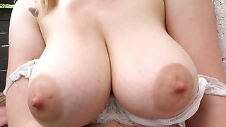 Busty loves the dick in her furry love hole