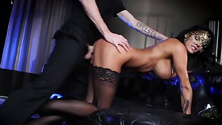 Masked Peta Jensen roughly fucked in a wet dream