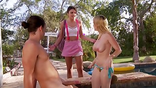Christie Stevens and Adria Rey in outdoor threesome