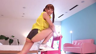 Japanese cutie looks nasty and wild
