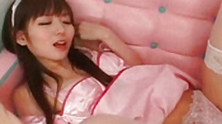 Nasty and young japanese maid gets her vagina banged well