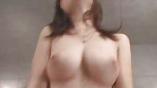 Beautiful Japanese blows it well before getting pumped hard