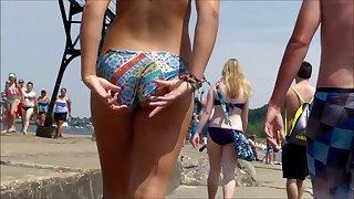 Candid Beach Bikini Ass Butt West Michigan Booty 10 with 5