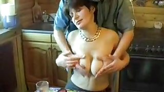 Horny Amateur video with Brunette, Mature scenes