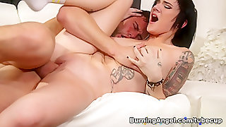 Crazy pornstars Seth Gamble, Nikki Hearts, Joanna Angel in Exotic Big Ass, Brunette xxx clip