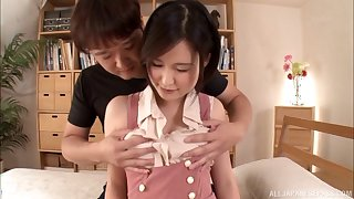 Sweet Morishita allows her new partner to do a bit of pussy drilling