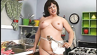 Naughty housewife shows us her sexy pierced clit