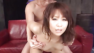 Japanese party girl fingered and fucked by his dick