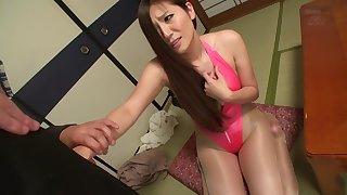 Hottest Japanese whore Yuna Shiina in Amazing blowjob, public JAV scene
