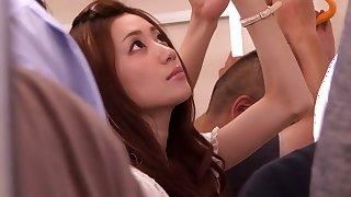 Best Japanese slut Kaori Maeda in Horny bus, upskirts JAV scene