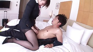 Exotic Japanese model Yui Tatsumi in Fabulous big tits, fingering JAV scene