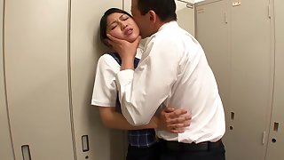 Crazy Japanese whore Reo Saionji in Exotic changing room, upskirts JAV video