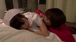 Fabulous Japanese slut Love Saotome, Minami Hirahara, Nana Usami, Hitomi Fujiwara in Incredible nurse, lesbian JAV scene