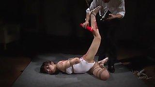 Megumi Shinoda in Leotard Rope Play 3 part 4.1