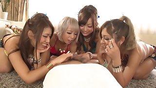 Reika Aiba, Karen Uehara, Yuna Mashiro, Maya Niki in First Rate Inside Cum Special part 1