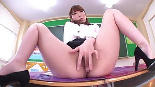 Yui Hatano in Female Teacher Without Panties part 3