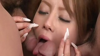 Ria Sakurai Uncensored Hardcore Video with Gangbang, Swallow scenes
