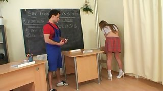 Olga Skobennikova is a randy schoolgirl in need of a hardcore plow