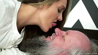 Alluring Dominica Fox enjoying with her ancient fucker Albert