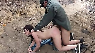 Cop fucks taxi driver Kayla West was caught lusty patrool du