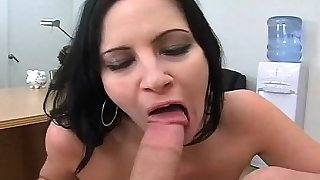 Breasty milf widens thighs for deep penetration and moans