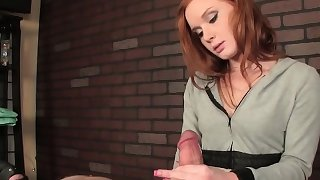 Mean ginger masseuse cum controlling customer
