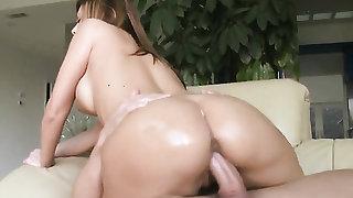 Brunette enjoys cock sucking too much