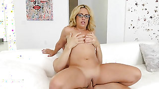 Blonde doll posing for your viewing enjoyment in solo scene